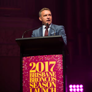 Brisbane event photography of Brisbane Broncos 2017 season launch.