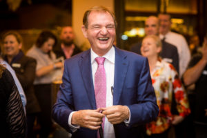 Mayor of Ipswich Paul Pisasale at Opening of Pig and Whistle in Redbank
