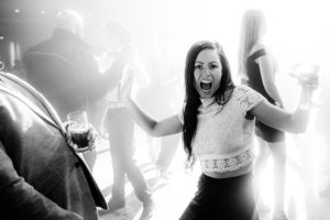 a person having fun at a party