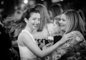 Two woman dancing