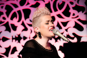 Katie Noonan singing in Brisbane. Music photography by Joseph Byford