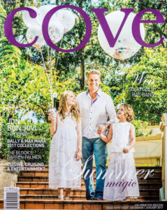 Cover of Cove Magazine. Portrait photography Brisbane.