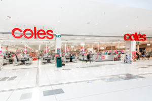 Store front photography in Brisbane. Coles sepermarket.