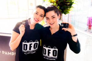 Women holding DFO card