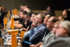 audience in a conference