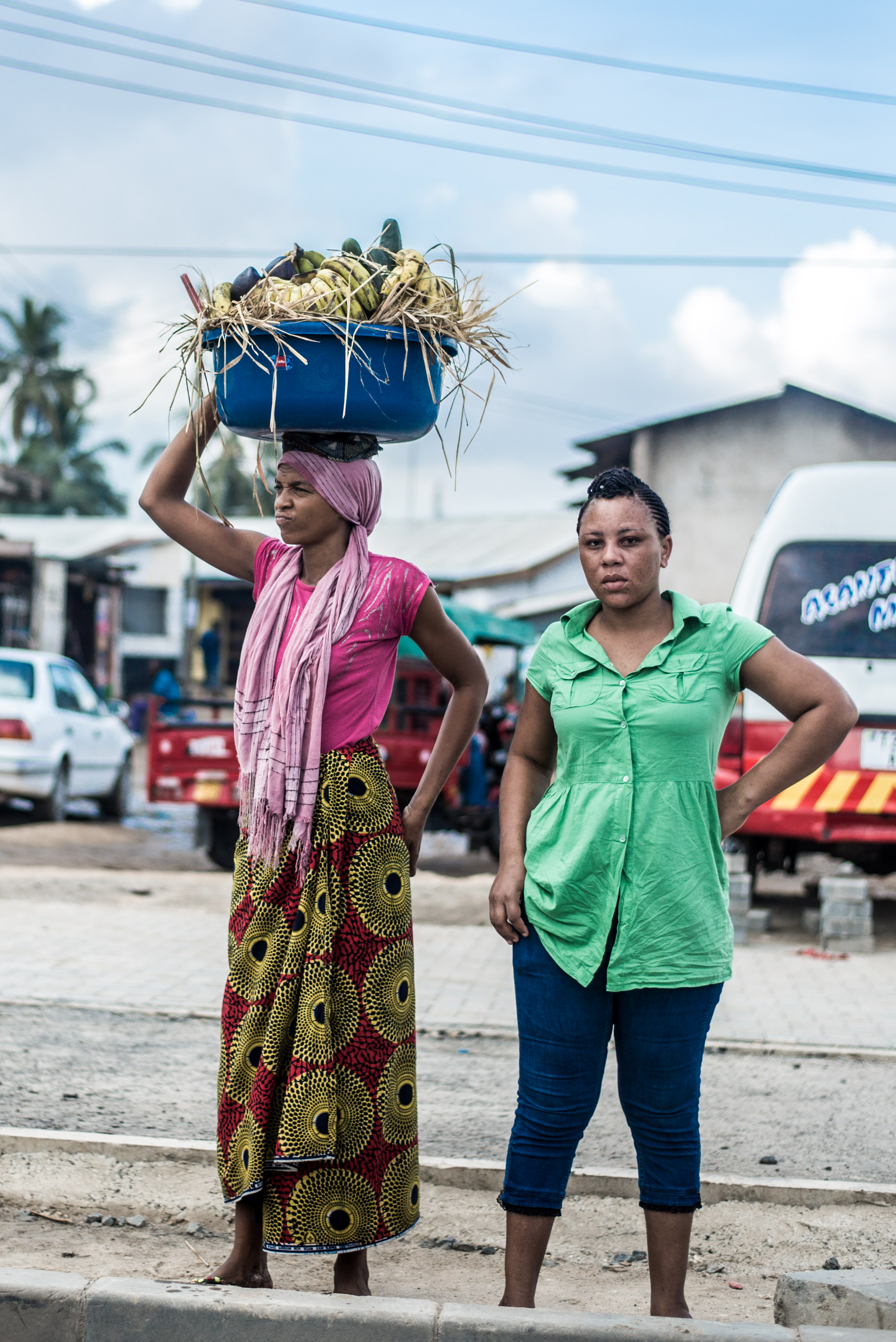 Woman selling in the Streets of Tanzania