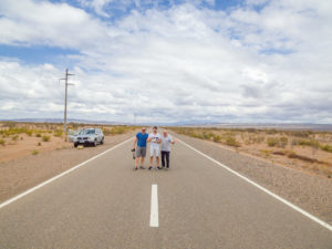 Family portrait on the road in Argentina