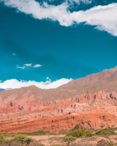 Landscape photo of mountains with sky in Argentina.