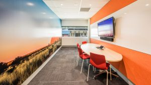Real estate photography, interior of office space