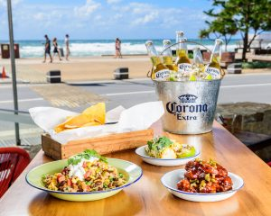 Mexican food by the beach