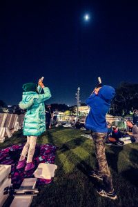Event photography in Brisbane. Stargazing in Roma street parklands.