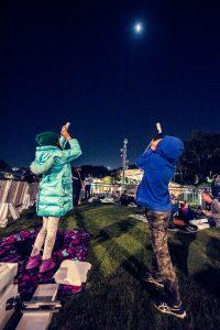 Event photography in Brisbane. Stargazing in Roma street parklands.
