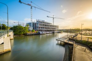 Architectural photography of Mercedes construction site in Brisbane QLD