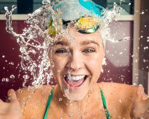 Splash photography portrait