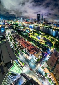 Brisbane city nightscape