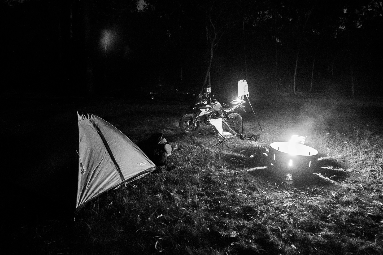 Camping with the BMW G310GS
