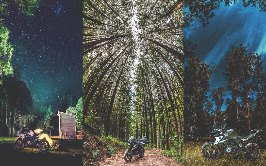 Photography Safari with Adventure Bike BMW R310GS at Conondale National Park, QLD, Australia