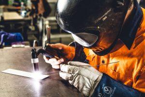 Industrial welding photography